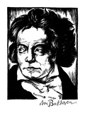 Ludwig Van Beethoven Giclee Print by Samuel Nisenson