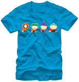 South Park - 4 Boys Scooting T-shirts
