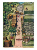 Algonquian Village, 1590 Poster by Theodor de Bry