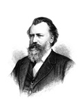 Johannes Brahms (1833-1897) Giclee Print by Samuel Hollyer