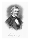 Ralph Waldo Emerson Giclee Print by Samuel Hollyer