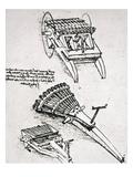 Leonardo: Gun Print by  Leonardo da Vinci