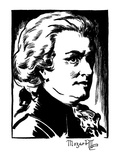 Wolfgang Amadeus Mozart Giclee Print by Samuel Nisenson