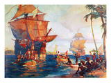 Columbus: New World, 1492 Giclee Print by W.j. Aylward