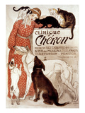 French Veterinary Clinic Giclee Print by Theophile Alexandre Steinlen