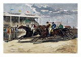 Horse Racing, NY, 1879 Giclee Print by Paul Frenzeny