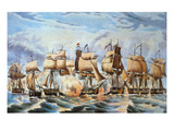 Battle of Lake Erie, 1813 Giclee Print by Nathaniel Currier