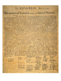 Declaration of Independence Giclee Print