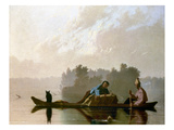 Bingham: Fur Traders, 1845 Art by George Caleb Bingham