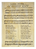 Yankee Doodle Music, 1775 Posters