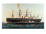 Ship: Great Eastern, 1858 Prints by  Currier & Ives
