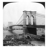 NY: Brooklyn Bridge, 1901 Print