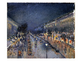 Pissarro: Paris at Night Premium Giclee Print by Camille Pissarro