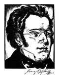 Franz Schubert (1797-1828) Prints by Samuel Nisenson