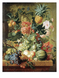 Brussel: Fruits, 1789 Premium Giclee Print by Paul Theodor van Brussel