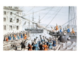 Boston Tea Party, 1773 Giclee Print by Nathaniel Currier