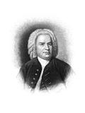 Johann S Bach (1685-1750) Giclee Print by Samuel Hollyer