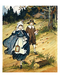 Pilgrim Schoolchildren Giclee Print by L. Kate Deal