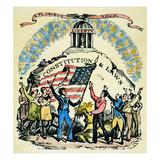 Constitution Cut, 18th C Print