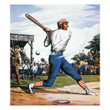 Casey at the Bat, 1888 Giclee Print by Edward Wilson