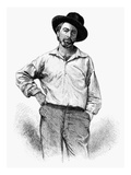 Walt Whitman (1819-1892) Giclee Print by Samuel Hollyer