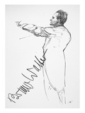 Bruno Walter (1876-1962) Giclee Print by Hilda Wiener