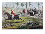 Currier: Fox Chase/Gone Away Giclee Print by Nathaniel Currier