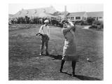 Silent Film Still: Golf Premium Giclee Print