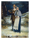 Puritans Going to Church Print by George Henry Boughton