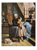 Currier and Ives: Grandmother Giclee Print by  Currier & Ives