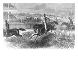 Hurdle Racing, 1867 Giclee Print
