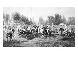 New York: Polo Club, 1877 Giclee Print by Henry C. Bispham