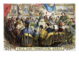 Thanksgiving Cartoon, 1869 Premium Giclee Print by Thomas Nast