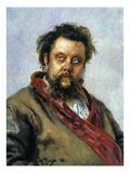 Modest Mussorgsky Giclee Print by Ilya Repin