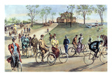 Bicycling Giclee Print by William Allen Rogers