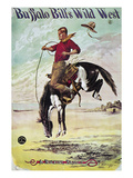 W F Cody Poster, c1885 Giclee Print