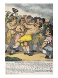 Boxing Match, 1812 Prints by Thomas Rowlandson