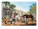 Preparing for Market (C&I) Giclee Print by  Currier & Ives
