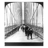NY: Brooklyn Bridge, 1901 Poster