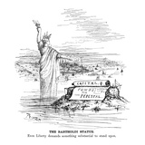 Statue of Liberty Cartoon Giclee Print by Thomas Nast