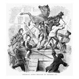 George III Statue, 1776 Giclee Print