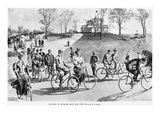 New York: Bicycling, 1895 Giclee Print by William Allen Rogers