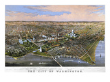 Washington, DC, 1880 Prints by  Currier & Ives