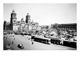 Mexico City: Zocalo, c1930 Prints