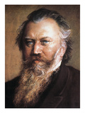 Johannes Brahms Posters by Ludwig Michalek