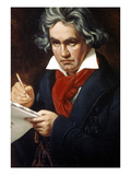 Ludwig Van Beethoven Giclee Print by Josef Karl Stieler