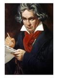 Ludwig Van Beethoven Prints by Josef Karl Stieler