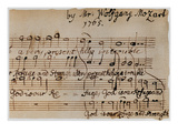 Mozart: Motet Manuscript Prints by Wolfgang Amadeus Mozart