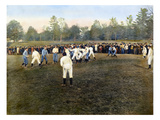 College Footbal Game, 1889 Giclee Print
