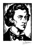 Frederic Chopin (1810-1849) Giclee Print by Samuel Nisenson